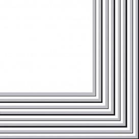 Papieren servet 2 laags zilver 33x33 cm (20 stuks)
