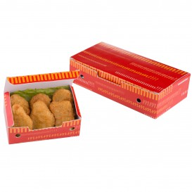 Papieren take-out doos klein maat 1,15x0,72x0,43cm (750 stuks)