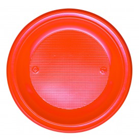 Plastic bord PS Diep oranje Ø22 cm (30 stuks)