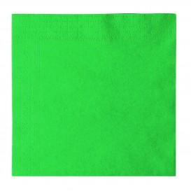 Papieren servet 2 laags groen 33x33cm (50 stuks)