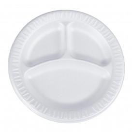 """Schuim bord Foam """"Quiet Classic"""" 3 C. gelamineerd wit Ø23 cm (125 stuks)"""