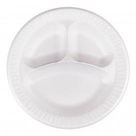 """Schuim bord Foam """"Quiet Classic"""" 3 C. gelamineerd wit Ø26 cm (500 stuks)"""