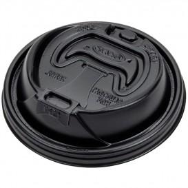 Plastic Deksel PS Resealable zwart Ø9,4cm (1000 stuks)