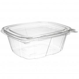 Plastic deli Container PET onverbrekelijk koepel Deksel Plat 355ml (200 stuks)