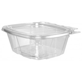 Plastic deli Container PET onverbrekelijk koepel Deksel Plat 475ml (100 stuks)