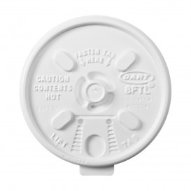Plastic Deksel PS Hersluitbaar wit Ø8,1cm (1000 stuks)