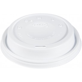 "Plastic Deksel PS ""Cappuccino"" wit Ø9,4cm (100 stuks)"