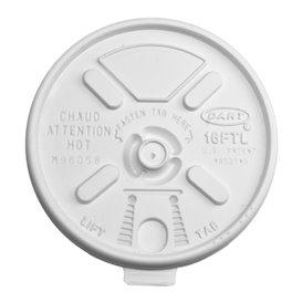 Plastic Deksel PS Hersluitbaar wit Ø9,4cm (1000 stuks)