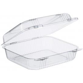 "Plastic scharnierende Deli-Container OPS ""StaenLock"" transparant 1260ml (125 stuks)"
