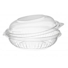"""Plastic scharnierende Saladekom PET""""Presentatiekom"""" hoog koepel Deksel 240ml (75 stuks)"""
