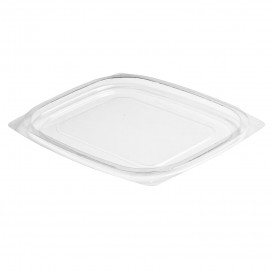 Plastic Deksel OPS voor Deli Container Plat transparant 237/355/473ml (63 stuks)