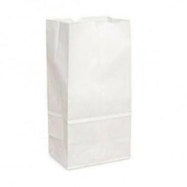 Papieren zak zonder handvat kraft wit 12+8x24cm (25 stuks)