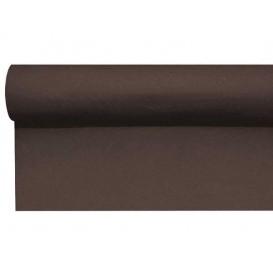 Airlaid tafelloper bruin 0,4x48m P1,2m (6 stuks)