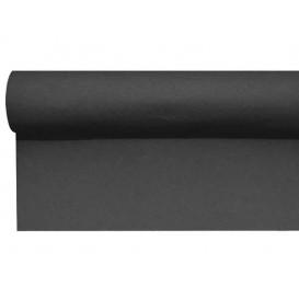 Airlaid tafelloper zwart 0,4x48m P1,2m (6 stuks)