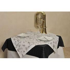 """Voorgesneden papieren tafelkleed """"musical"""" 37g 1x1m (400 stuks)"""
