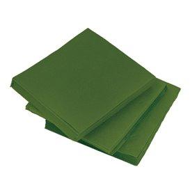 Papieren servet Micropunt groen 20x20cm 2C (100 stuks)