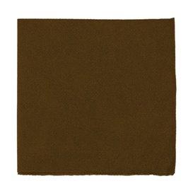 Papieren servet Micropunt bruin 20x20cm 2C (100 stuks)