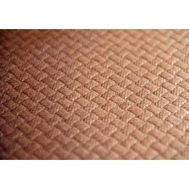 Papieren tafelkleed rol bruin 1x100m 40g (6 stuks)