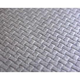 Papieren tafelkleed rol grijs 1x100m 40g (1 stuk)