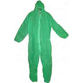 """Wegwerp plastic overall """"TST"""" PP capuchonrits maat L groen (1 stuk)"""