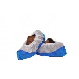 Wegwerp plastic schoen omhulsel met versterking van de tong TST PP CPE blauw (50 stuks)