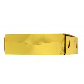 Papier bakkerij doos goud 14x8x3,5cm 250g (50 stuks)