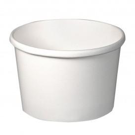 Papieren Container wit 8Oz/237ml Ø9,1cm (25 stuks)