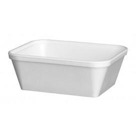 """Schuim Container """"Diner-pakket"""" Rechthoekige vorm wit 430ml (500 stuks)"""