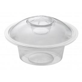 "Plastic deli Container 750ml + Plastic Deksel ""Press&Dress"" + Portie beker (150 pakkets)"