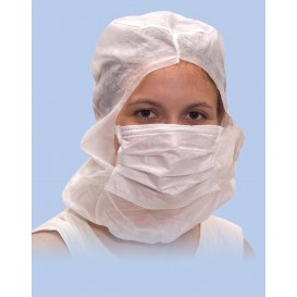 Wegwerp-chirurgiekap met 3 laags wit (500 stuks)