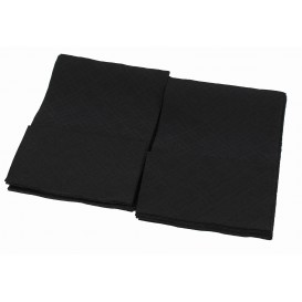 "Papieren servet ""Miniservis"" zwart 17x17cm (160 stuks)"