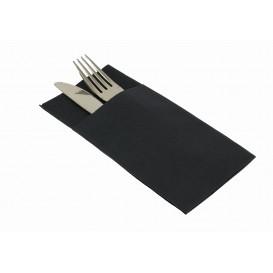 """Zakvouw airlaid servetten """"Kanguro"""" zwart 40x40cm (30 stuks)"""
