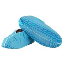 "Wegwerp plastic schoen omhulsel ""TST"" Anti-Slip blauw (100 stuks)"