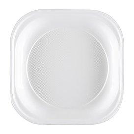 Plato de Plastico PS Cuadrado Rigido Blanco 200x200mm (1000 Uds)