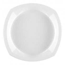 Plato de Plastico PS Cuadrado Blanco 230x230mm 1C (100 Uds)
