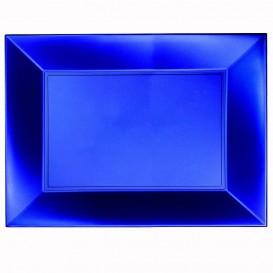 Bandeja de Plastico Azul Nice Pearl PP 345x230mm (6 Uds)