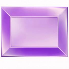 Bandeja de Plastico Violeta Nice Pearl PP 345x230mm (30 Uds)