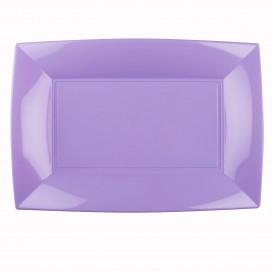 """Plastic dienblad microgolfbaar lila """"Nice"""" 34,5x23cm (60 stuks)"""