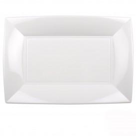 """Plastic dienblad microgolfbaar wit """"Nice"""" 34,5x23cm (6 stuks)"""