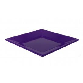Plastic bord Plat Vierkant lila 17 cm (750 stuks)