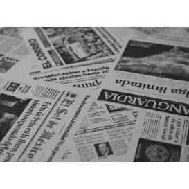 """Voorgesneden papieren tafelkleed 1x1m wit """"Prensa"""" 37g 1x1m (400 stuks)"""