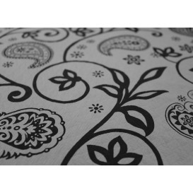 "Voorgesneden papieren tafelkleed ""Cachemir"" zwart 37g 1x1m (400 stuks)"