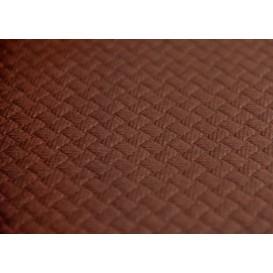 Voorgesneden papieren tafelkleed bruin 40g 1x1m (400 stuks)