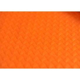 Mantel de Papel Cortado 1x1 Metro Naranja 40g (400 Uds)