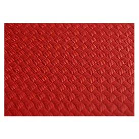 Voorgesneden papieren tafelkleed rood 40g 1x1m (400 stuks)