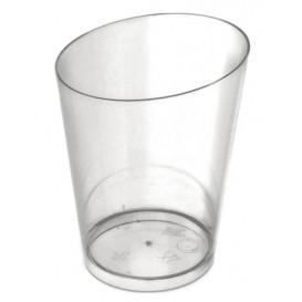 Plastic PS proefbeker Kegel vormig transparant 100 ml (500 stuks)