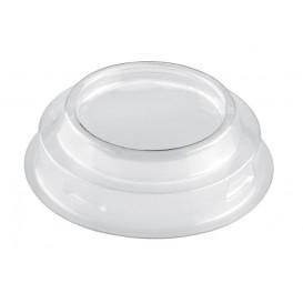 """Plastic PET Deksel voor Plastic Proeving beker """"Maxi"""" Kegel vormig transparant 100ml (25 stuks)"""