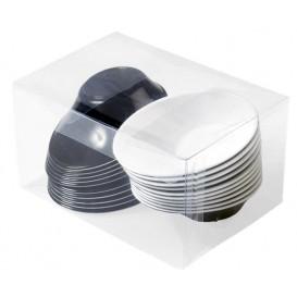 """Plastic Kom PS """"Sodo"""" wit en zwart 50 ml (240 stuks)"""