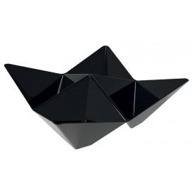 "Proeving plastic kom PS ""ofigami"" zwart 10,3x10,3cm (25 stuks)"