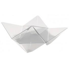 "Proeving plastic kom PS ""ofigami"" transparant 10,3x10,3cm (25 stuks)"